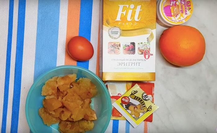 продукты для апельсинового десерта