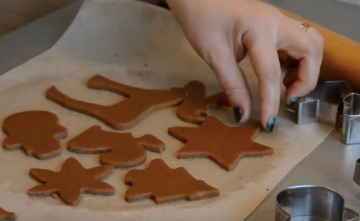 формируем печенье