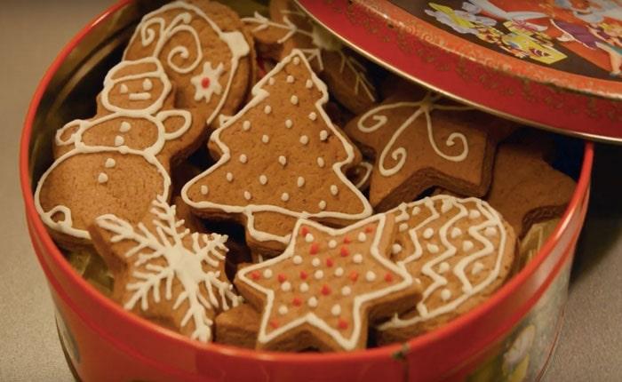 имбирное печенье в коробочке