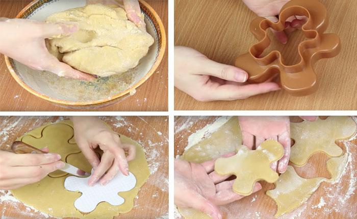 вырезаем печенье формочками