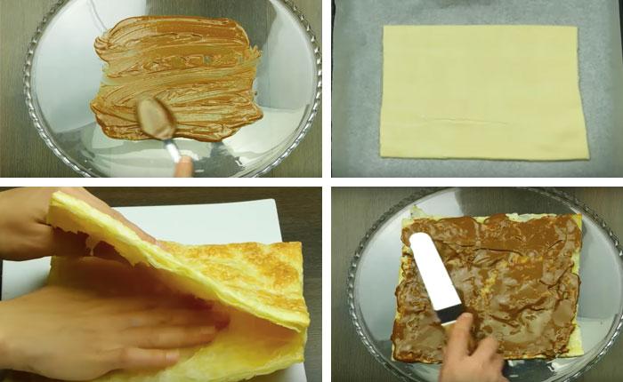 сборка коржей торта