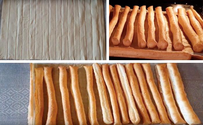 полосочки из теста для торта