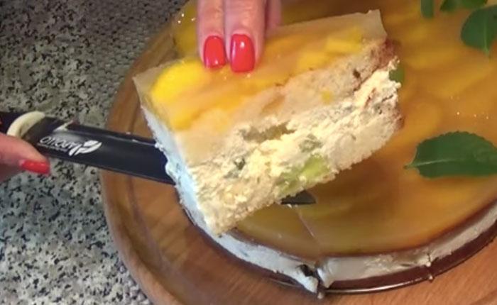 Бисквитно-суфлейно-желейный тортик, пошаговый рецепт, фото, ингредиенты - Olga VG